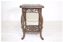 Hardwood display table, Square, Style 05-11